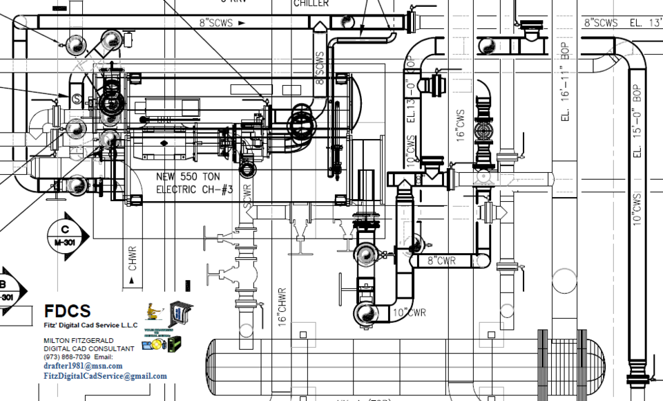 3D Piping Layout converted to 2D Plan and Sections | 3D CAD