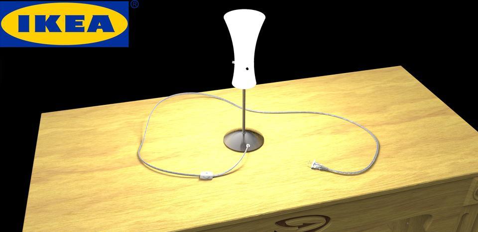 Ikea Desk Lamp Step Iges 3d Cad Model Grabcad