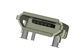 Micro USB Female Type B Connector SMD