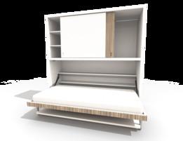 Bed wardrobe desk and in 1 same