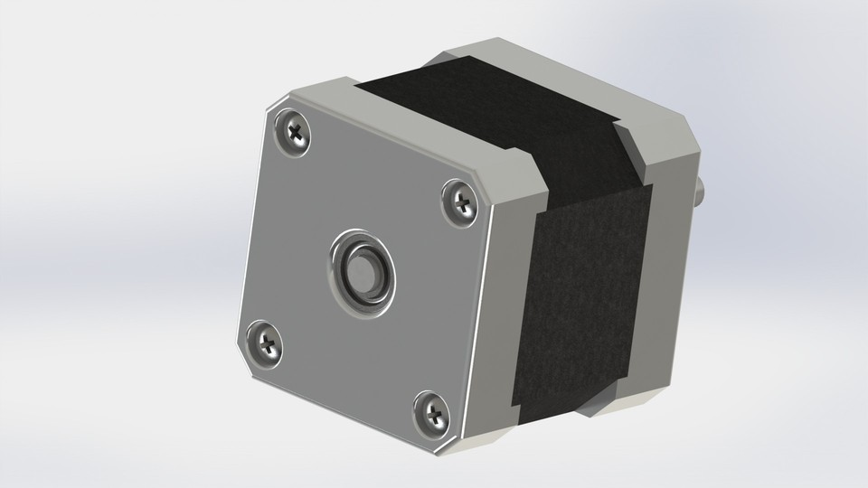 stepper motor nema 17 stl step iges solidworks