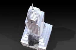 The Chrysler Building, Sheetmetal puzzle, 3d puzzle, 3d model, metalcraftdesign