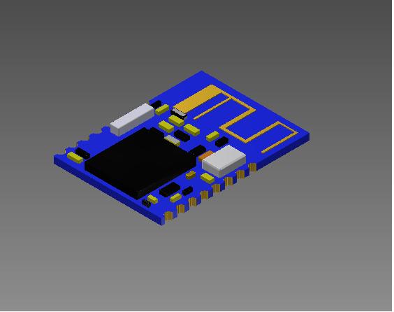 HM-11 bluetooth ble module | 3D CAD Model Library | GrabCAD