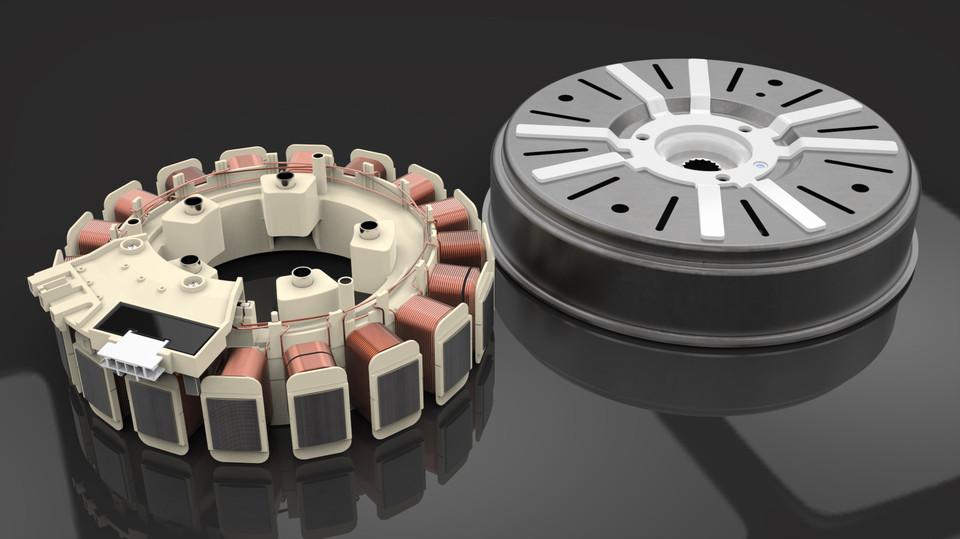 samsung washing machine motor step iges 3d cad model