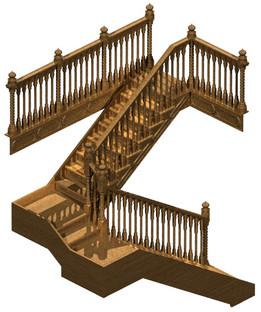 Stairs to the pseudo Moorish