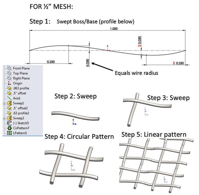 Wire Mesh   3D CAD Model Library   GrabCADGrabCAD