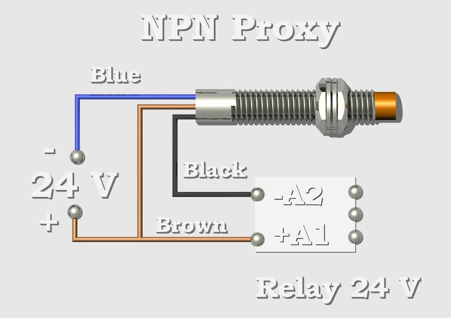 how to connect proximity sensor to relay