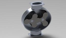Simple lobe pump