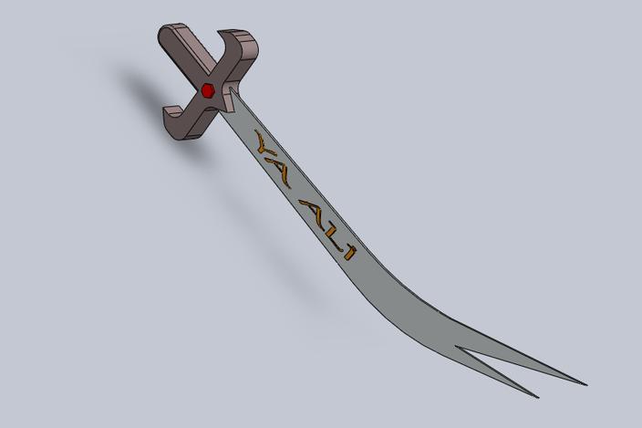 Hazrat Ali's sword Zulfiqar - SOLIDWORKS - 3D CAD model ...