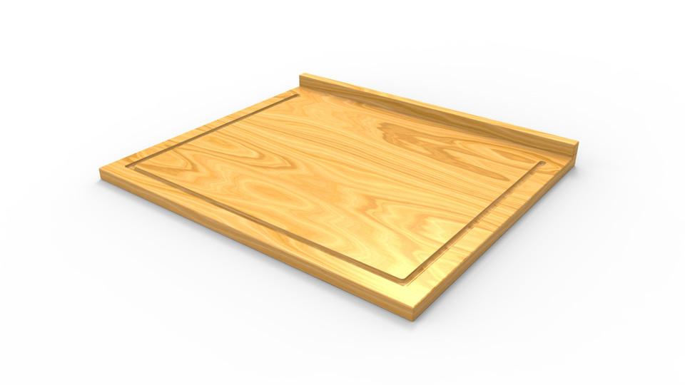 Ikea Lämplig Chopping Board 3d Cad Model Library Grabcad