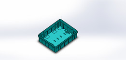 plastic mould of box