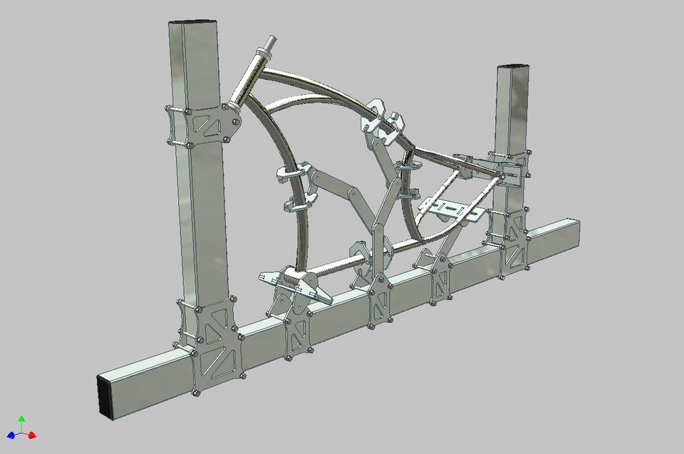 bicycle frame jig | 3D CAD Model Library | GrabCAD