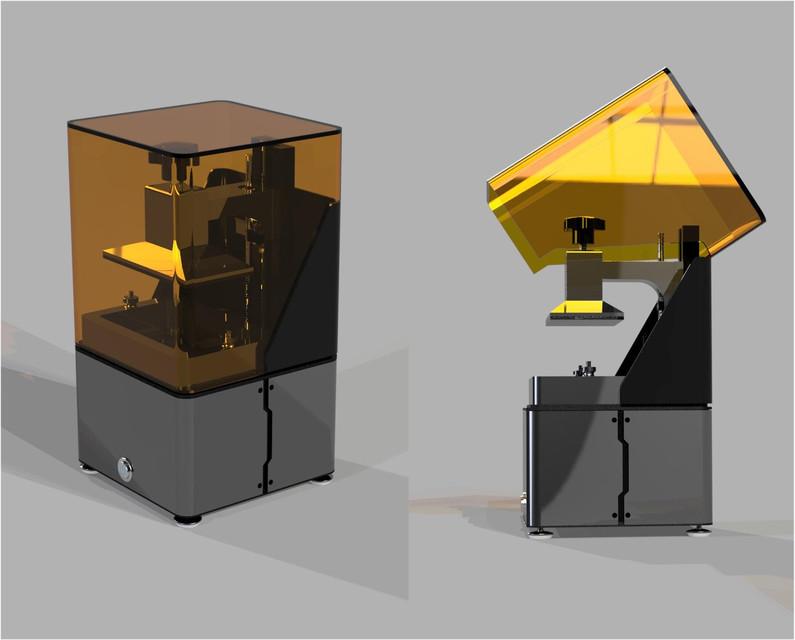 UV LED DLP 3D printer | 3D CAD Model Library | GrabCAD