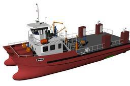 Oil skimming catamaran