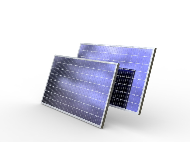Solar Panel Step Iges Solidworks 3d Cad Model Grabcad