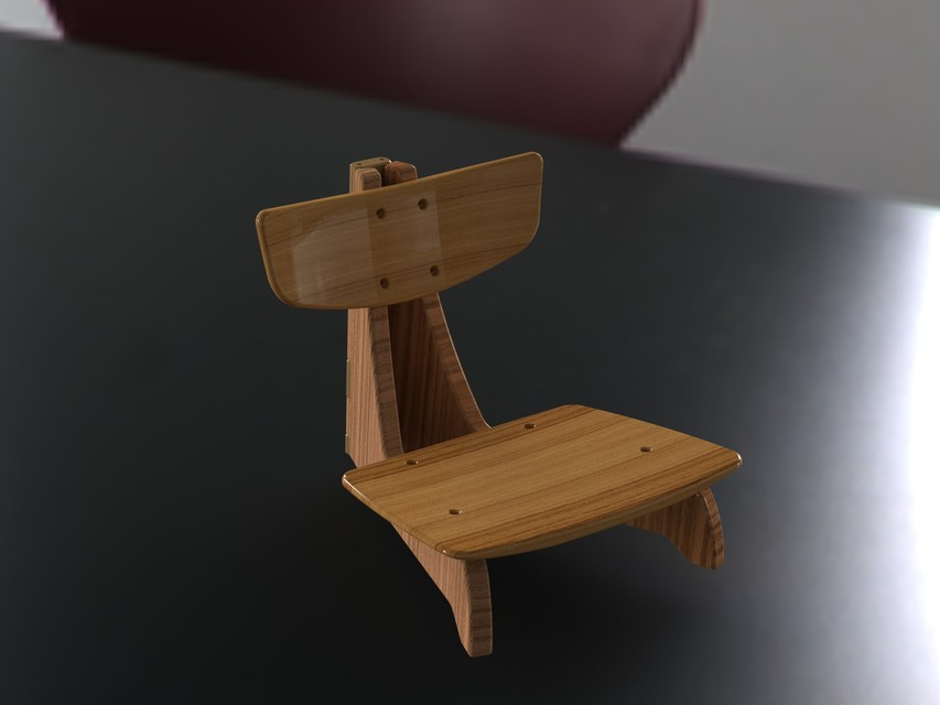 Japanese Folding Chairs | 3D CAD Model Library | GrabCAD