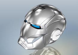 Modelagem mascara homem de ferro