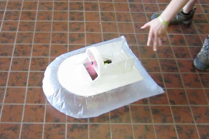 Lasercut Cardboard Toy Hovercraft Other 3d Cad Model