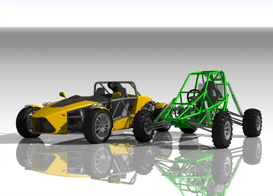 Kit Sport Car Suspension | 3D CAD Model Library | GrabCAD