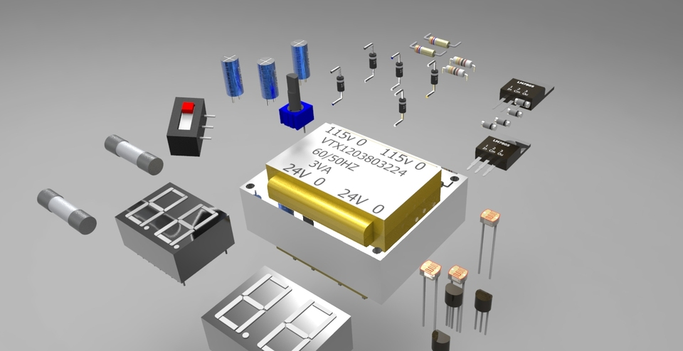 Electronic components   3D CAD Model Library   GrabCAD