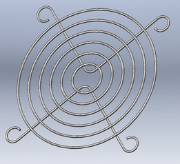 Grill, Grid for 40mm fan