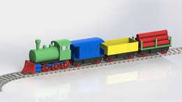 Toy steam locomotive