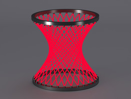 Hyperboloid created in PARTsolutions