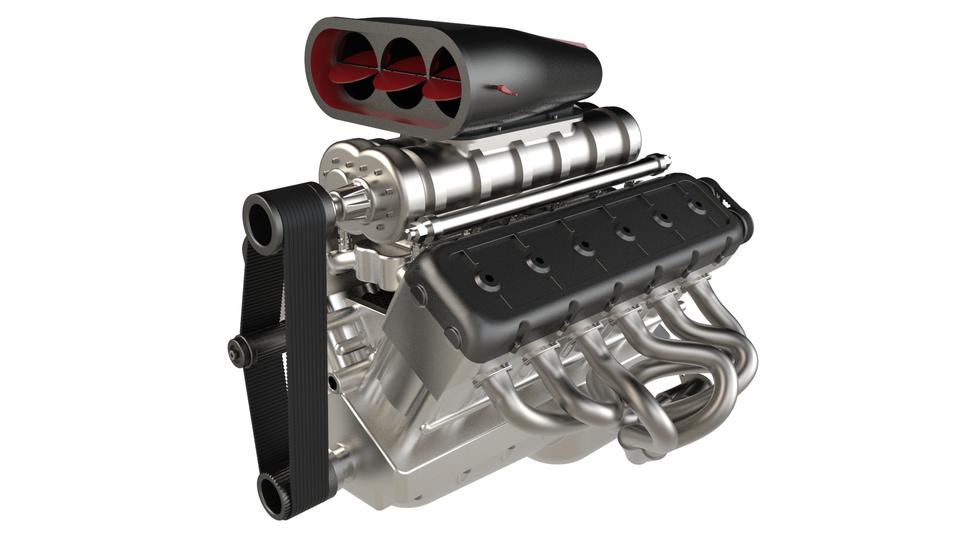 V12 Engine   3D CAD Model Liry   GrabCAD