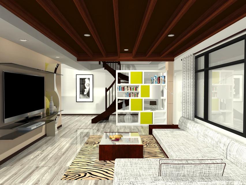 Simple Living Room | 3D CAD Model Library | GrabCAD
