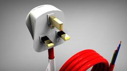 UK 3 PIN DOMESTIC MAINS POWER PLUG