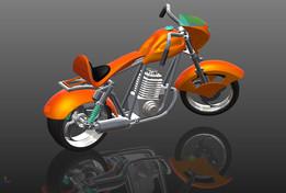 MOTORCYCLE  CHOPPER CUSTOM