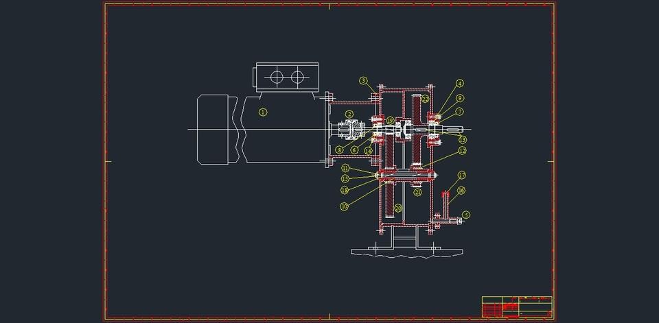 Gearbox autocad 3d cad model grabcad for Sessel 3d dwg