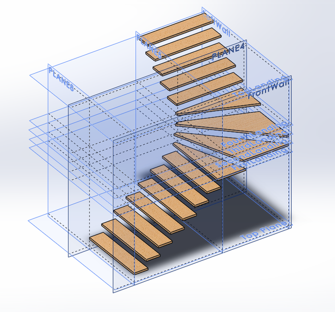 l shape stairs 3d cad model library grabcad l shape stairs 3d cad model library