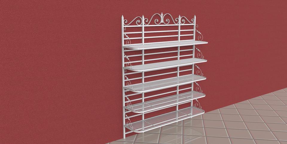 Scaffale in ferro battuto d cad model library grabcad