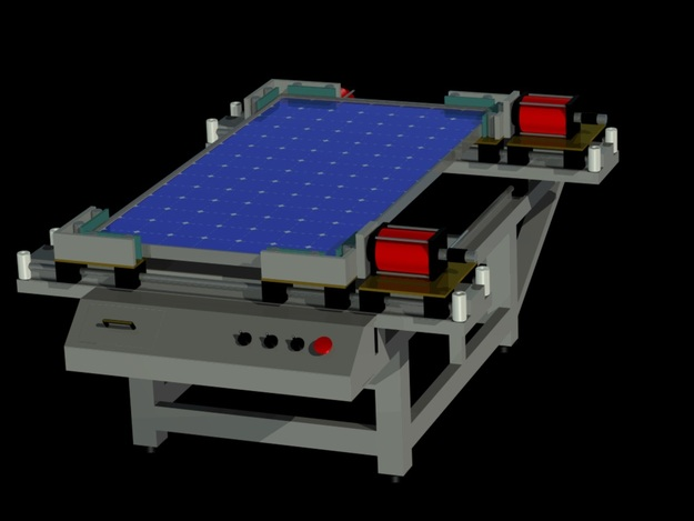 Solar Panel Automatic Framing Machine with Solar Panel