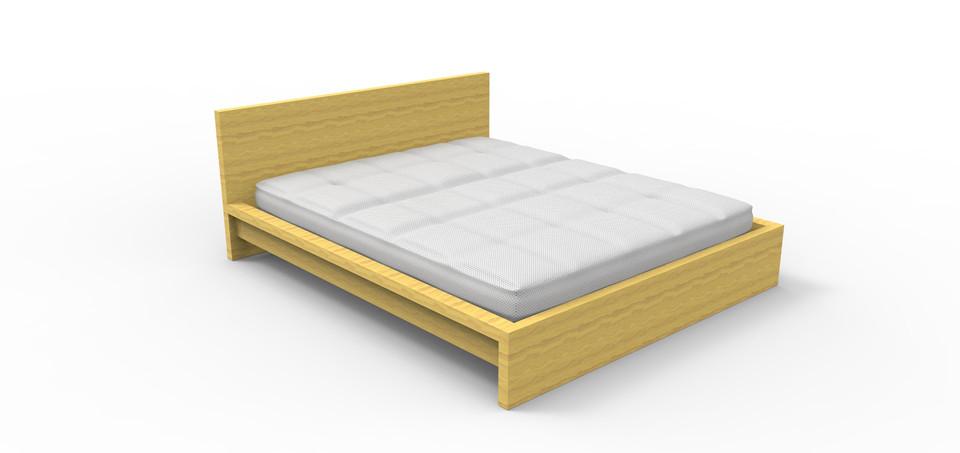 ikea malm bed - step / iges - 3d cad model - grabcad, Hause deko