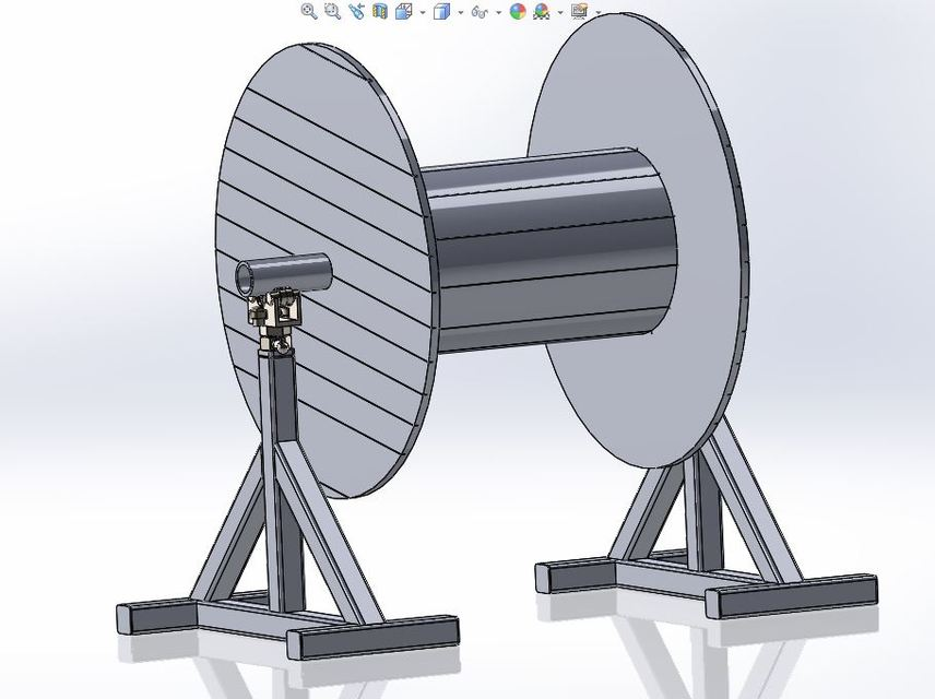 Cable reel stand | 3D CAD Model Library | GrabCAD