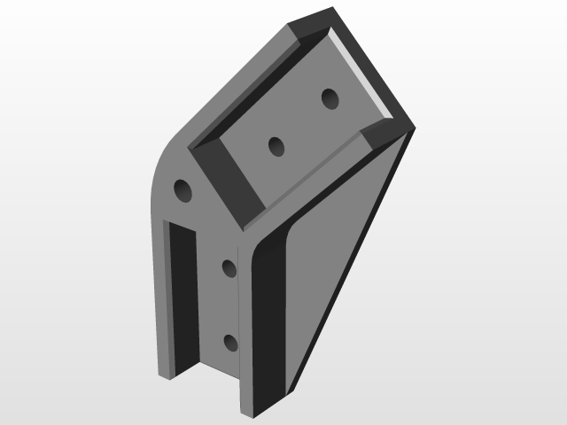 Fitting 135° for 20x20 mm aluminium square tube | 3D CAD