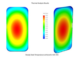 Solidworks Simulation - Iphone6s Aluminum Body Cover Thermal Study