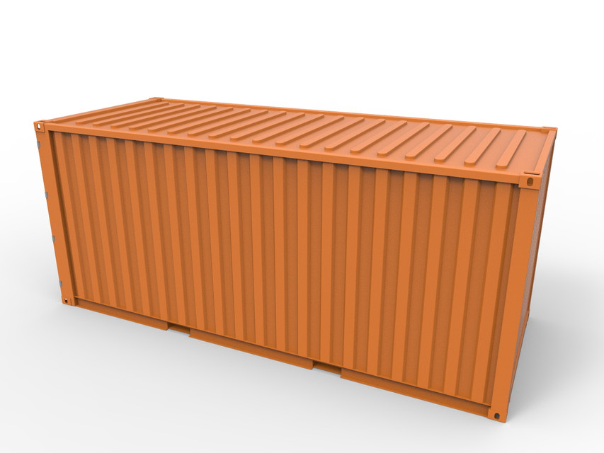 20ft Shipping Container 3d Cad Model Library Grabcad