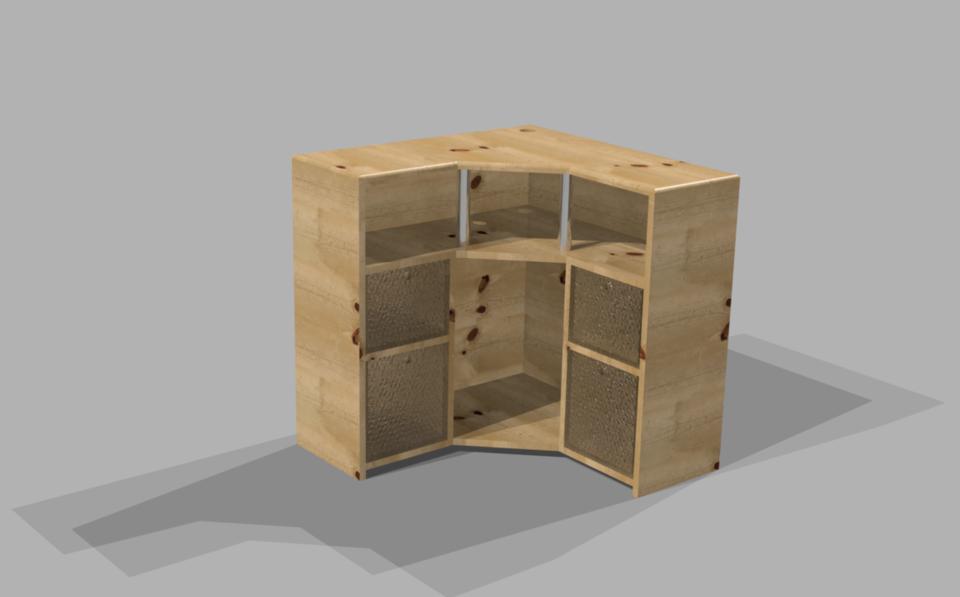 & Corner Utility Cabinet | 3D CAD Model Library | GrabCAD