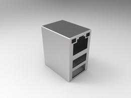 RJ45 Dual USB Shield