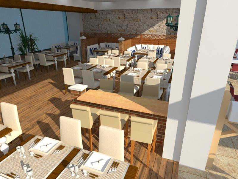 Yildiz desİgn restaurant d cad model library grabcad