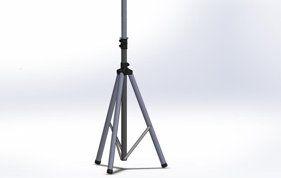 Speaker Stand Tripod 3d Cad Model Library Grabcad
