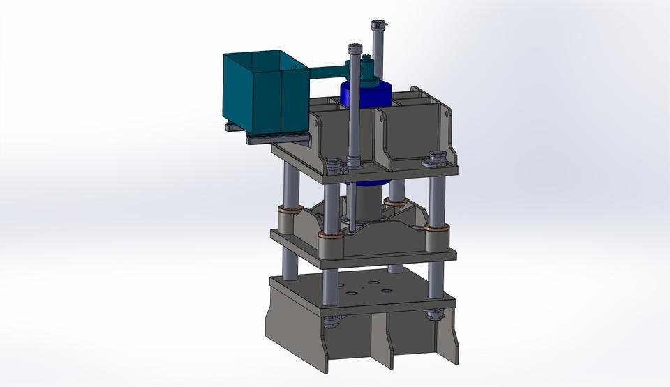 300 ton hydraulic press | 3D CAD Model Library | GrabCAD