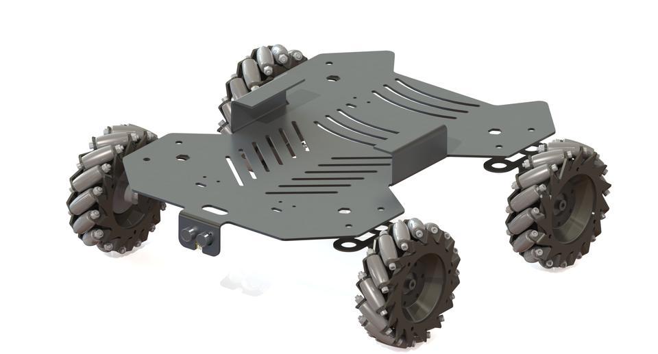 Mecanum Wheel Robot 3d Cad Model Library Grabcad