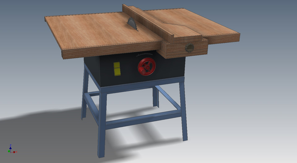 turn a crappy table saw into a good one | 3d cad model library | grabcad