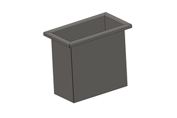 Sheet metal waste bin