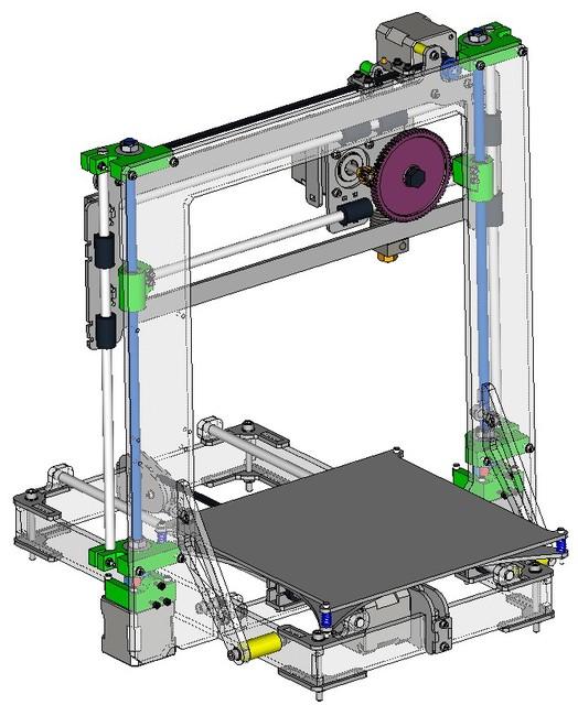 3d Printer Prusa I3 2 Lasercut Step Iges 3d Cad
