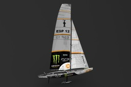 America's cup sailboat